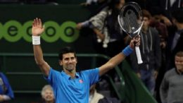 Tennis - Qatar Open - Men's Singles - Novak Djokovic of Serbia v Radek Stepanek of Czech Republic