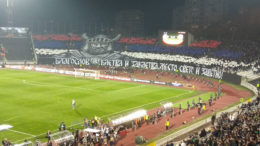 grobari-partizan-skenderbeg-skenderbeu-pfc-navijaci-huligani-europa-league-Partizanovi stranci