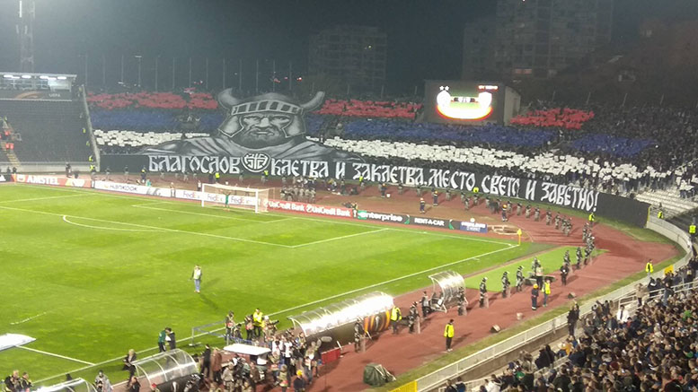 grobari-partizan-skenderbeg-skenderbeu-pfc-navijaci-huligani-europa-league